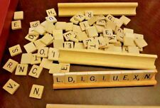 Vintage 1976 Scrabble Brand Crossword Game Selchow & Righter Co. Wood Tiles Good