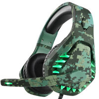 GAMING HEADSET with LED Light Mic *PC|Computer|Laptop|PS4|X-BOX *Great Quality