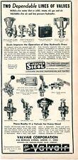 1952 Print Ad of Valvair Corp & Sicol Sinclair Collins Valve Company Akron OH