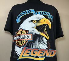 VTG 1989 Harley Davidson T Shirt 80's Eagle 50/50 Thin Biker Trucker 90's