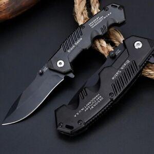 Couteau de survie tactique pliant Lame pour la chasse / Camping / militaire
