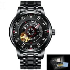 Creative Tourbillon Men's Watch Business Automatic Mechanical Steel/Leather Band