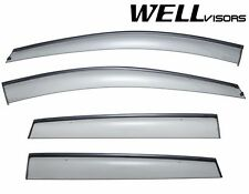 WellVisors Side Window Visors Deflectors W/ Black Trim For 13-Up Ford Escape