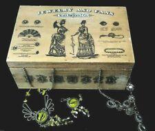 "Vintage style jewellery storage ""sears robuck"" wooden box"