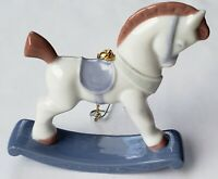Lladro China ROCKING HORSE Christmas Holiday Ornament Limited Edition MINT!