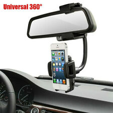 Car Rearview Holder Camera Rearview Fashion Mirror Black Durable For Cell Phone