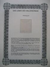 """Irrtümer auf Briefmarken / Paraguay : """" Das Leben des Walzerkönigs """""""