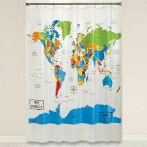 "The World Saturday Knight Vinyl PEVA Shower Curtain, 70"" x 72"""