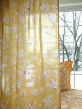"One Nib Pottery Barn Pb Teen Orange Blue Sunwashed Floral Drape Panel 40""x44""L"