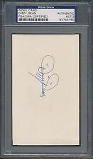 Dizzy Dean Index Card PSA/DNA Certified Authentic Auto Autograph Signed *5155