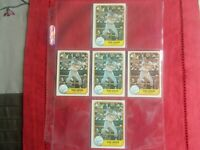 KIRK GIBSON-(5)CARD LOT FLEER 1981 RC  #481 HIGH GRADE