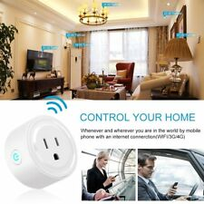 Wi-Fi Smart Plug Control your Device from Anywhere Work w Alexa/Google Assistant