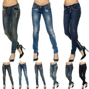 TAZZIO Damen Jeans   Slim Fit   Jeanshose   Stretch   Designer Hose Denim