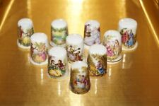 FINE BONE CHINA THIMBLE COLLECTION SET - VICTORIAN TIMES