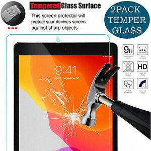 "Tempered Glass Film HD For iPad 10.2"" 7TH,8TH Generation Screen Protector 2 Pack"