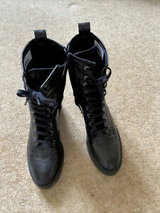 Biker Boots from Bertie Size 4 leather worn once.