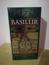Basilur Pure Ceylon GREEN Tea - 25 string tea bags