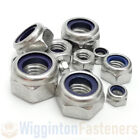 M3 M4 M5 M6 M8 M10 M12 Nyloc Nuts Nylock Nylon A2 STAINLESS STEEL Type T DIN 985
