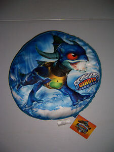 """SKYLANDERS GIANTS 15"""" ROUND PLUSH PILLOW WITH POUCH NEW!"""