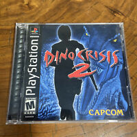 Dino Crisis 2 (Sony PlayStation 1, 2000) COMPLETE CIB - GAME + MANUAL + CASE PS1