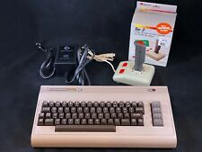 Commodore 64 Computer - Cleaned & Tested w/ Power Supply & Suncom Tac-3 Joystick
