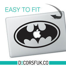 BATMAN LOGO MacBook ADESIVI NERO VINILE | Laptop ADESIVI | Decalcomania MacBook