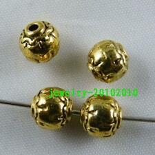 20pcs Gold Colour Ball Round Spacer Beads 7x7mm 930