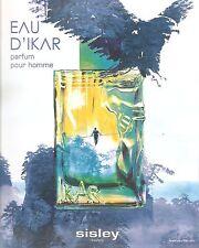 PUBLICITE ADVERTISING 2011 Eau d'Ikar Parfum pour Homme de SISLEY