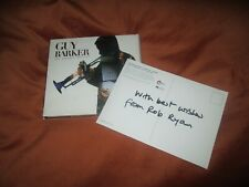 Guy Barker - Amadeus Project  double cd signed postcard by rob ryan