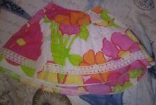 Lilly Pulitzer Gala Girls Sz 5 Flowered Skirt Hem Coming Undone