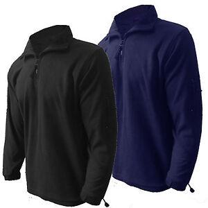 Mens Fleece Jacket Henbury Microfleece Zip Neck  Zip Sleeve Pocket XS New