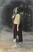 BEAUTIFUL YOUNG GIRL-LONG HAIR-STYLISH DRESS-MAX ETTLINGER PHOTO 1907 POSTCARD