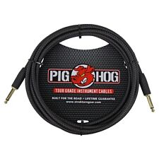 PIG HOG 10 ft BLACK WOVEN TWEED GUITAR INSTRUMENT PATCH CABLE 1/4 CORD PigHog