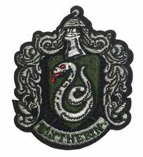 """Harry Potter Slytherin Shield 2 1/2"""" breit 3"""" hoch bestickt Aufbügelflicken"""