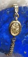Omega Watch -  Swiss - 14K Gold Filled  - Speidel Watch Band - Vintage