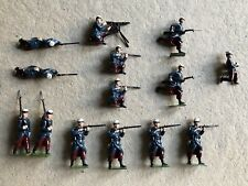 BRITAINS French Foreign Legion  14 pieces lead soldiers made in England