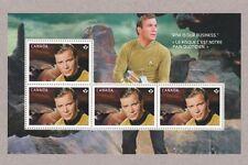 CANADA 2016 Star Trek Prestige Booklet Souvenir Sheet SHATNER as CAPTAIN KIRK