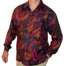 """New 100% Silk Shirts for Men S,M, L, Brand Name """"SURPRISE"""" NWT Print #108"""