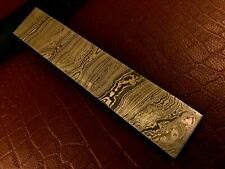 More details for handmade damascus steel billet-bar-razor-knife making supplies-annealed-178x31mm