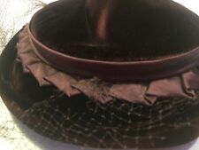 Vintage Heads Of Cheyenne Velvet Gorgeous Arlington Hats USA*