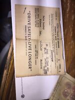 1948 State of Indiana Operator's / Drivers License Division of Motor Vehicles