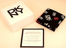 DKNY New in Box Designer Scarf - Black Red White w/ Logo - New York Fashion