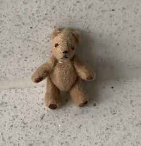 Dolls house miniature 1:12 ARTISAN jointed teddy bear - toys nursery
