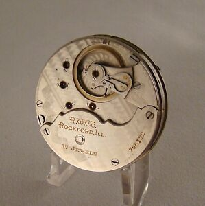 113 YEARS OLD RUNS STRONG MOVEMENT ROCKFORD 17 JEWELS OPEN FACE 18s POCKET WATCH