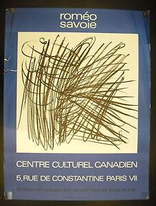 Manifesto Esposizione Pittore Acadian Romeo Savoia Centro Cultura Canadese 1972