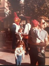 80s Woody Woodpecker Mascot Photograph Color Theme Park Kids Costume Vintage