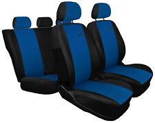 Cubiertas De Asiento De Coche Apto Fiat Grande Punto-XR Negro/Azul Set Completo Estilo Deportivo
