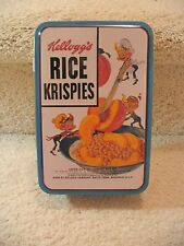KELLOGG'S RICE KRISPIES  COLLECTORS TIN WITH 3 ORNAMENTS SNAP CRACKLE POP  NEW