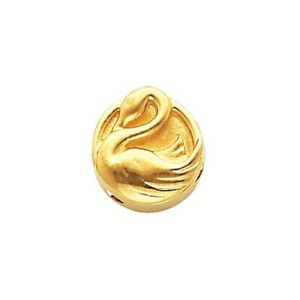 SwanSlide Charm For Charm Bracelet 14K Yellow Gold Quality Made