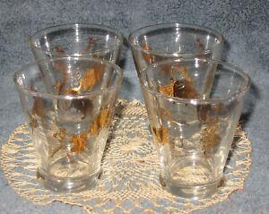 "Vtg MCM 3"" Meth Gold Matador Bullfighter Barware Lowball Shot Glass Cocktail"